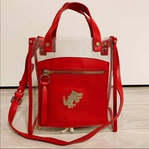 SJYP Red Pvc Satchel/Crossbody Bag